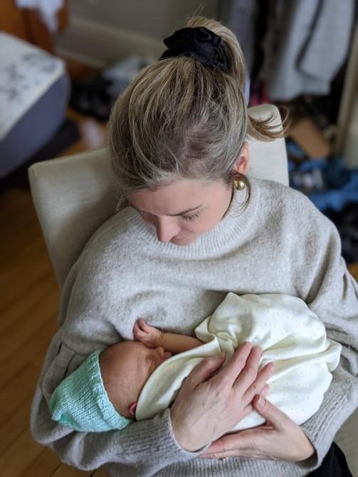 Holding Monty 2 - 11 days old