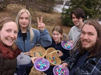 We still managed our Easter egg hunt.